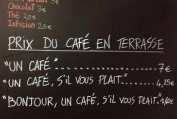 Είστε αγενείς; Σε ένα καφέ στη Νίκαια της Γαλλίας κοστίζει ακριβά