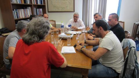 Συνάντηση Γιάννη Μαχαιρίδη με τον Σύλλογο Εργαζομένων της Περιφέρειας Ν. Αιγαίου