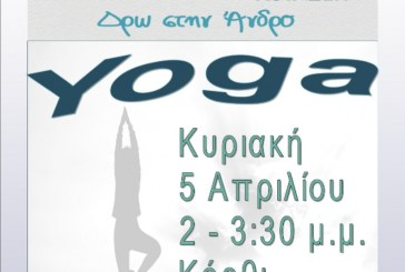 ΑΝΔΡΟΣ ΚΟΙΝΣΕΠ: Σεμινάριο Yoga με τη Σοφία Σκούρτη