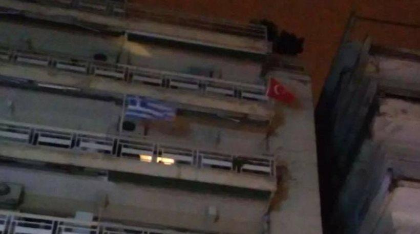 Θεσσαλονίκη-τουρκική-σημαία