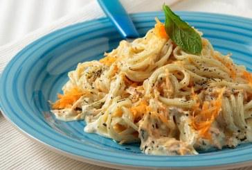 Σήμερα μαγειρεύουμε: Σπαγκέτι με σκορδάτη σάλτσα γιαουρτιού