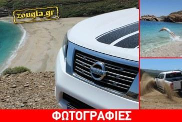 Με Nissan Navara στις παραλίες Άχλα και Βόρη της Άνδρου…