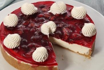 Γλυκός πειρασμός: Δροσερό τσίζκεϊκ με ζελέ φρούτων