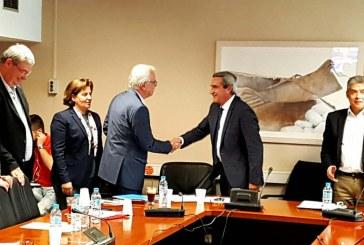 Τα προβλήματα του πρωτογενούς τομέα στο Νότιο Αιγαίο, έθεσαν στον Υπουργό Αγροτικής Ανάπτυξης, ο Περιφερειάρχης Γ. Χατζημάρκος και ο Αντιπεριφερειάρχης Φ. Ζαννετίδης, σε σύσκεψη εργασίας στην ΕΝΠΕ