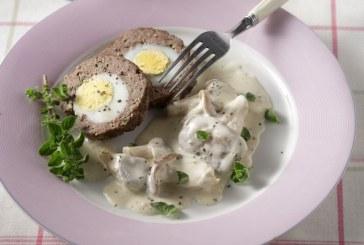 Σήμερα μαγειρεύουμε: Ρολό κιμά γεμιστό με αυγό και σάλτσα μανιταριών