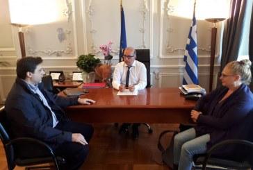Συνάντηση του Αντιπεριφερειάρχη Κυκλάδων Γιώργου Λεονταρίτη με τον Πρόεδρο του Τμήματος Μηχανικών Σχεδίασης  Προϊόντων και Συστημάτων του Πανεπιστημίου Αιγαίου