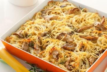Σήμερα μαγειρεύουμε: Σπαγκέτι φούρνου με πλευρώτους και γραβιέρα