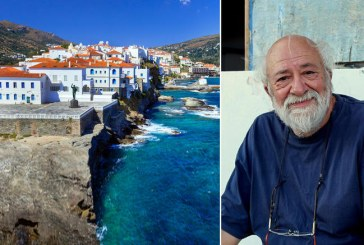 Ο Π. Βούλγαρης ξεναγεί το TOC στη δική του Ανδρο. Παραλίες κι η κουζίνα της