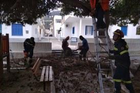ΣΕΔΑ: Δεύτερη «επιχείρηση» καλλωπισμού των δέντρων στην παιδική χαρά του Όρμου Κορθίου