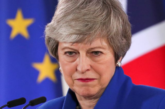 FILE PHOTO: British Prime Minister Theresa May holds a news conference following an extraordinary European Union leaders summit to discuss Brexit, in Brussels, Belgium April 11, 2019.  REUTERS/Yves Herman/File Photo