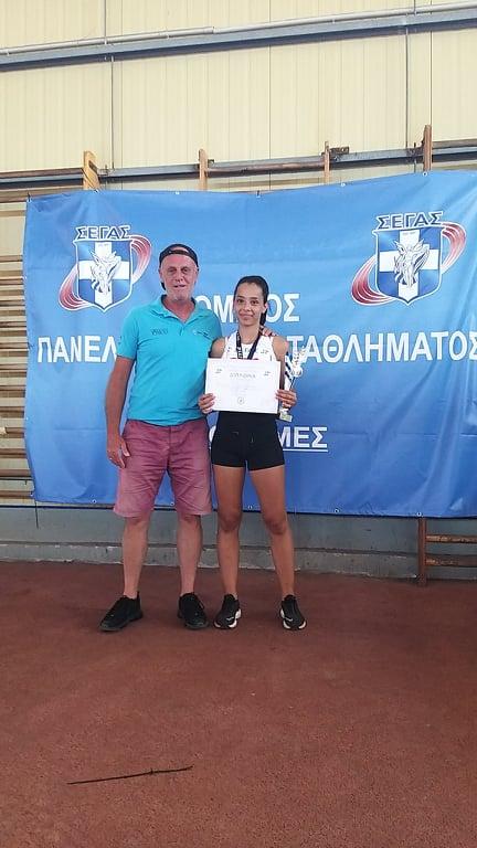 Διακρίσεις για δύο αθλήτριες του Ανδριακού Ο.Φ. στο Πανελλήνιο Πρωτάθλημα Στίβου