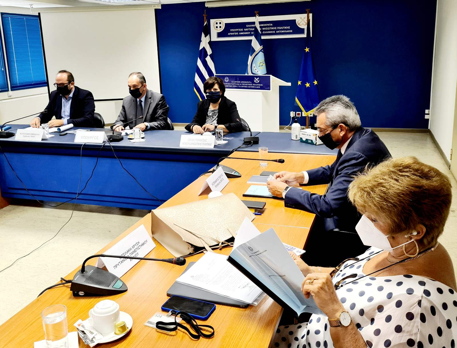 Ο Περιφερειάρχης Ν. Αιγαίου στη συνεδρίαση του συμβουλίου νησιωτικής πολιτικής