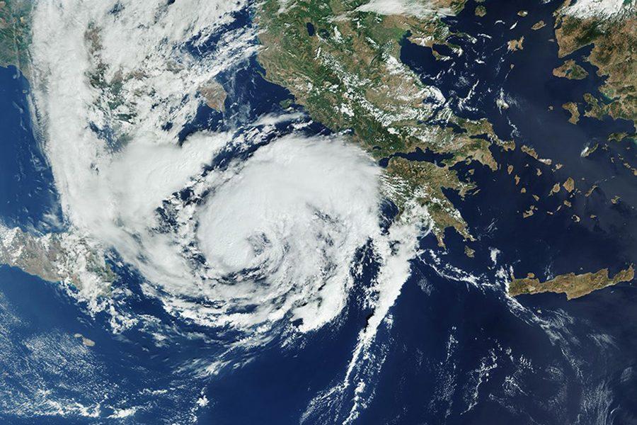 Ιόνιο: 186 χιλιοστά βροχής μέσα σε 32 ώρες έριξε ο «Ιανός»