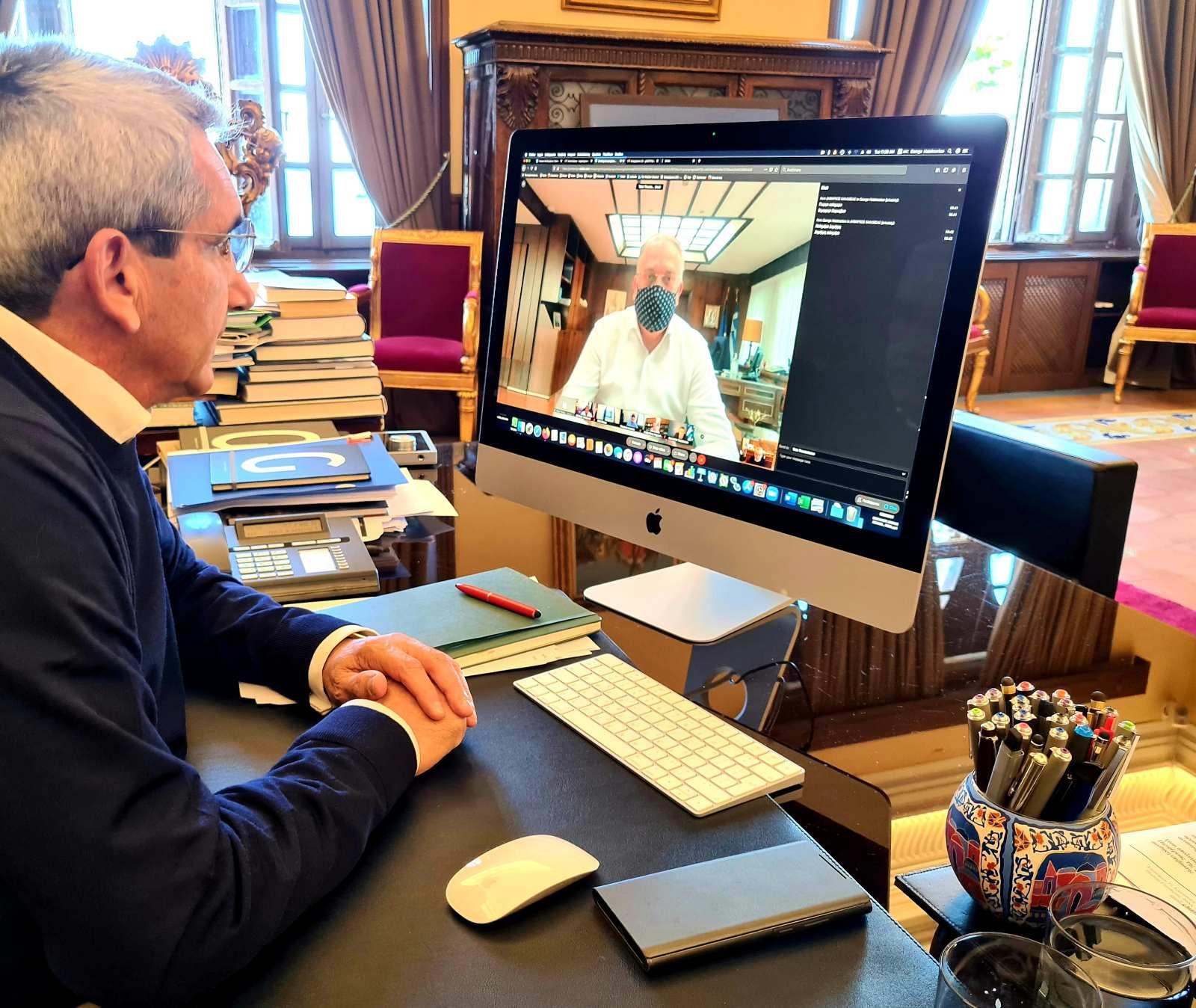 Σε τηλεδιάσκεψη  υπό τον Υπουργό Εσωτερικών ο Περιφερειάρχης Ν. Αιγαίου