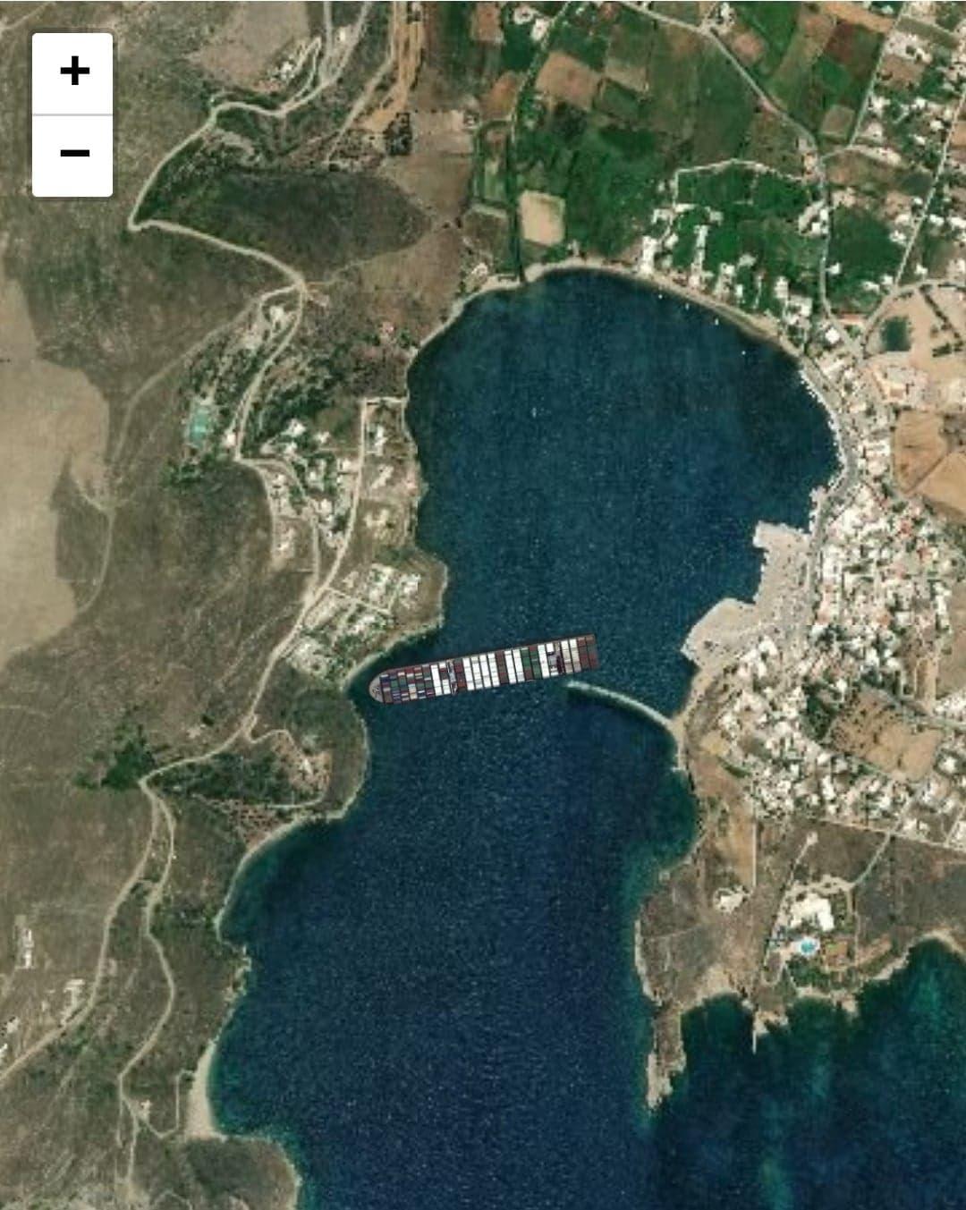 Πλοίο προσάραξε στην είσοδο του λιμανιού Γαυρίου