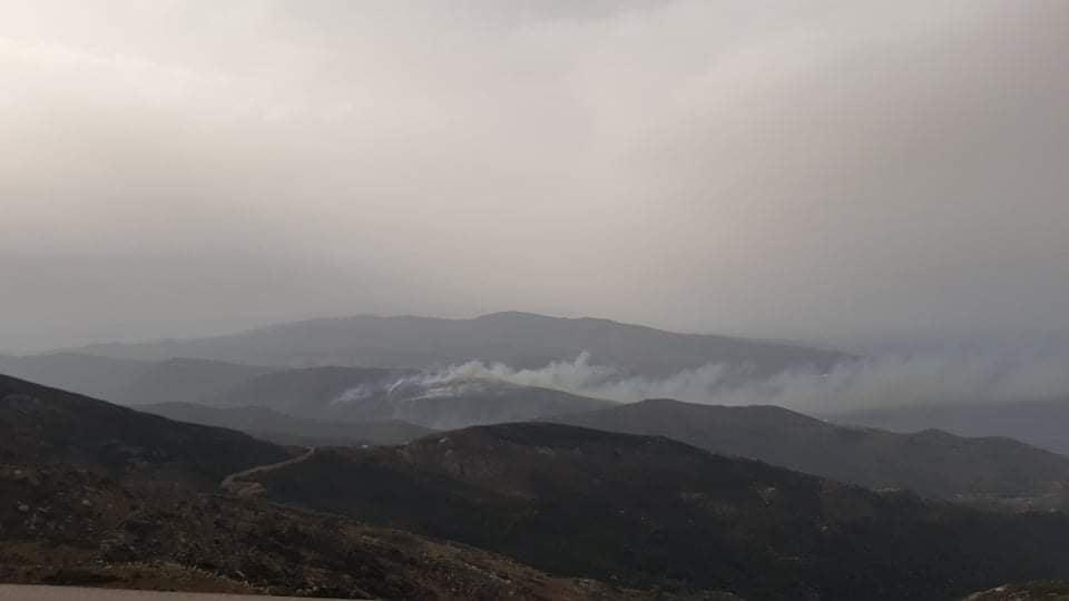 Σε ύφεση η πυρκαγιά σε Ρέματα-Ατένι-Κατάκοιλο