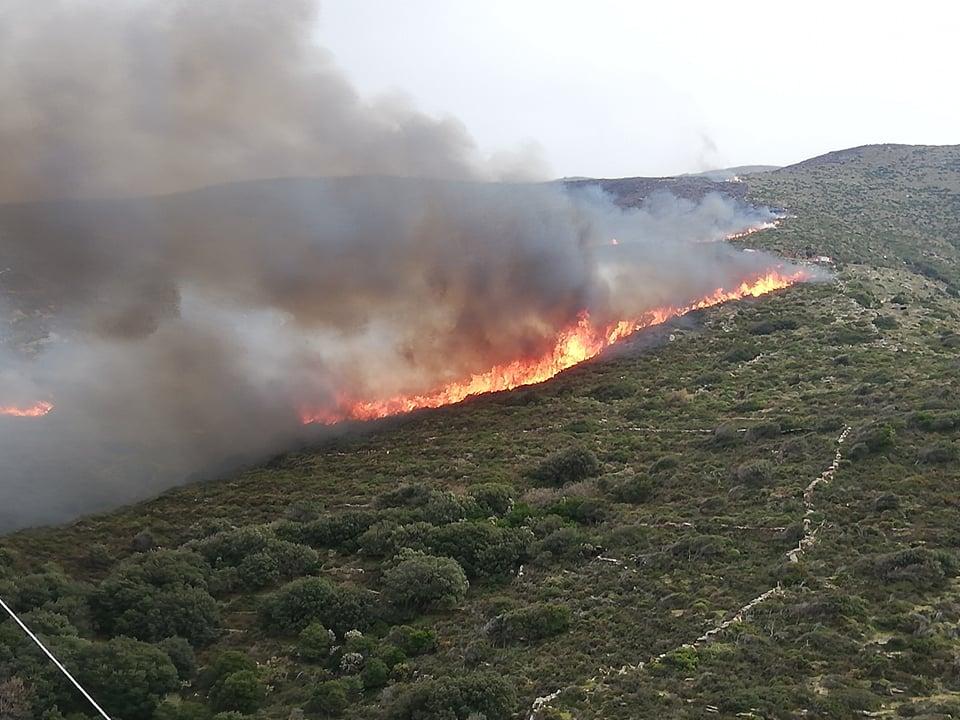 Φωτογραφίες & Βίντεο: Μαίνεται η πυρκαγιά σε Ρέματα – Ατένι – Κατάκοιλο