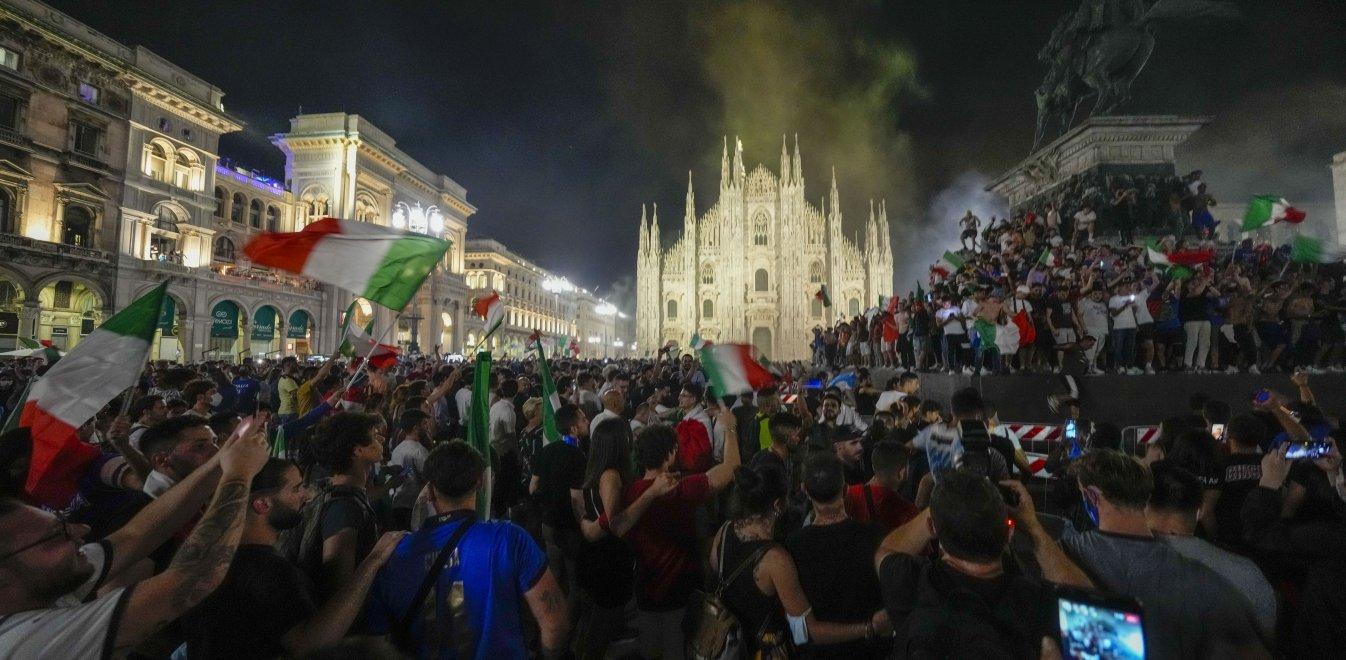 Euro 2020: Έξαλλοι πανηγυρισμοί στην Ιταλία για την κατάκτηση