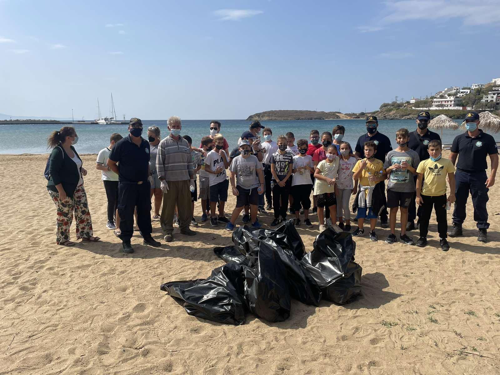 Λιμεναρχείο Άνδρου: Περιβαλλοντική δράση για την προστασία του θαλάσσιου περιβάλλοντος