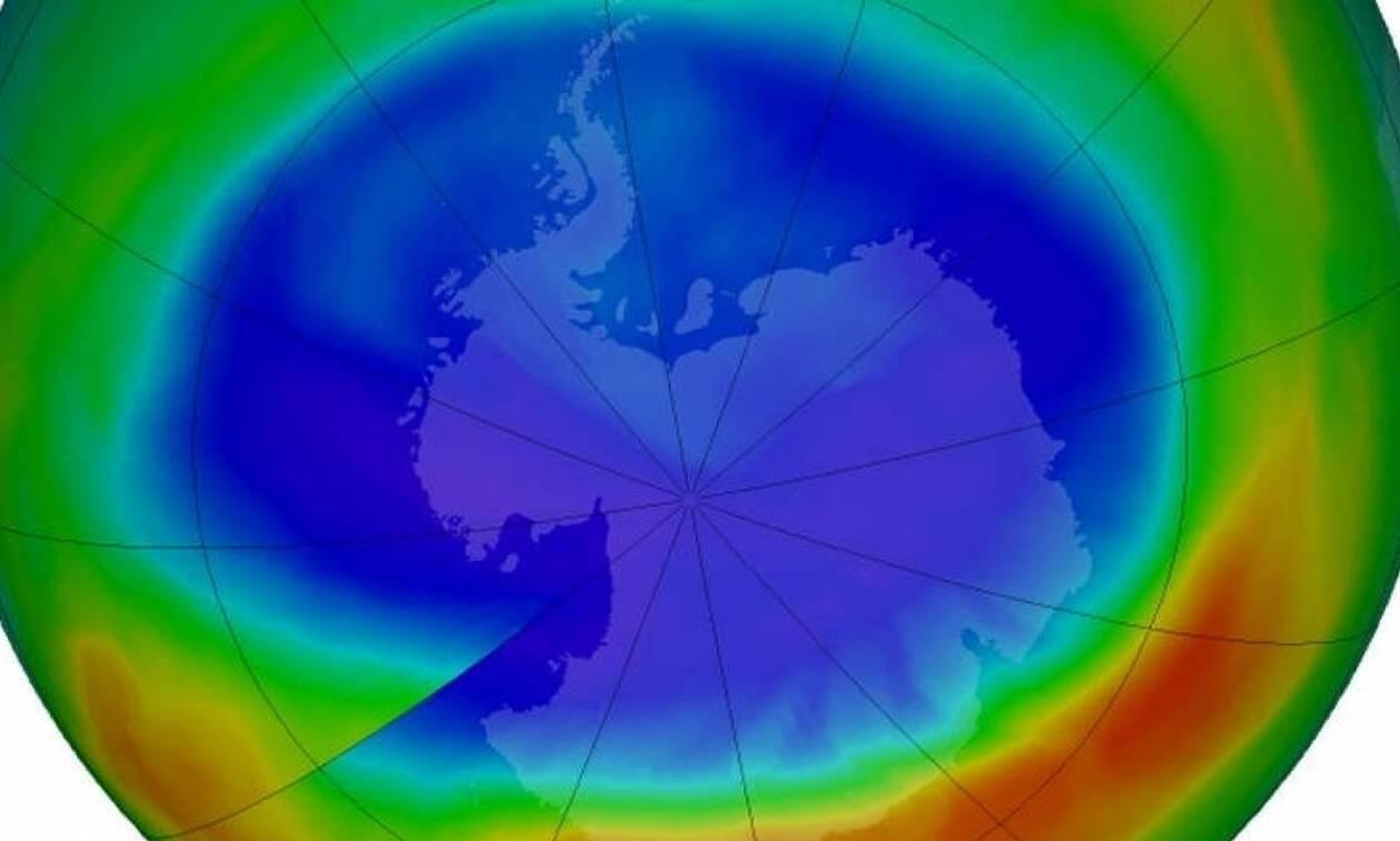 Η τρύπα του όζοντος στον Νότιο Πόλο είναι αυτό τον Σεπτέμβριο μεγαλύτερη και από την Ανταρκτική